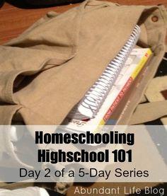 Homeschooling Through High School 101:  The Basics @Marianne Sunderland