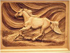 Лошадей - Альгирдасa Риддикасa резьба по дереву Литва