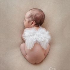 Hot-0-12M-Newborn-Infant-Baby-Angel-Feather-Wings-Halo-Photo-Props-Costume-D65