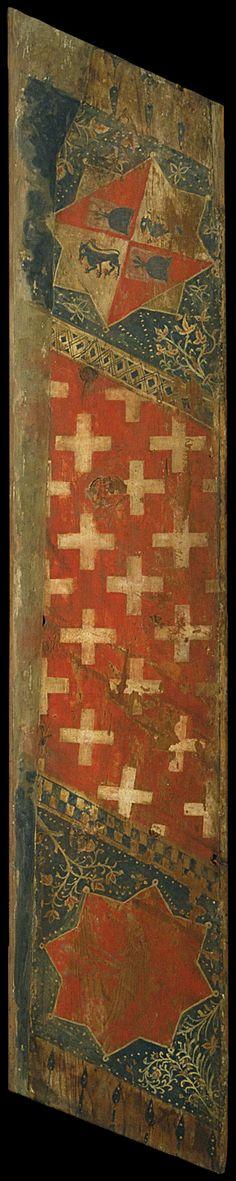Taula d'enteixinat amb les armes dels Cardona i les dels Cruïlles. Primer quart del segle XIV (Museu Nacional d'Art de Catalunya)