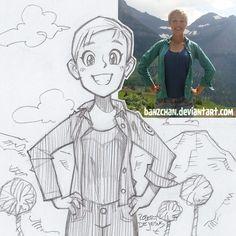 My current portrait commission information below: http://banzchan.deviantart.com/ga…/48833371/Pencil-Portraits Jojo151992 sketch
