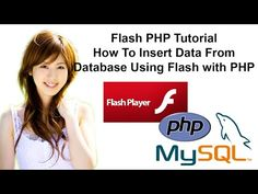 Flash PHP Tutorial: How To Insert Data From Database Using Flash with PHP - YouTube