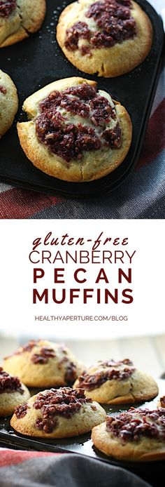 A quick-and-easy gluten free muffin, this Cranberry-Pecan Muffin recipe makes easy work of healthy holiday baking.