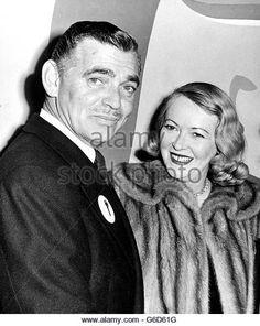 Clark Gable with wife Sylvia Ashley - Stock Image