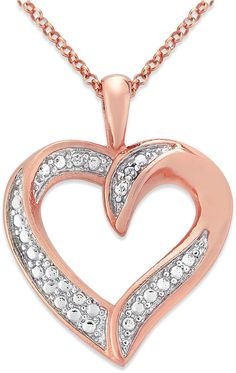 Rose rhodium plated sterling silver diamond heart pendant necklace rose rhodium plated sterling silver diamond heart pendant necklace 5 cttw g h color i2 i3 clarity 18 from amazon curated collection price mozeypictures Choice Image