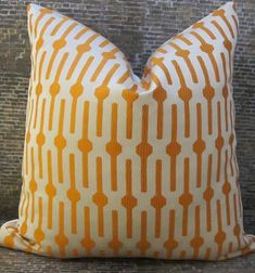 Designer Pillow Cover  20 x 20    Lollipop Orange by 3BModLiving, $39.00