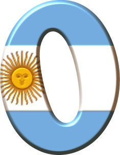 Alfabeto con la Bandera de Argentina.