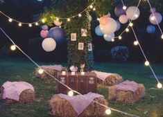 for a guinguette wedding decor! Everything for a guinguette wedding decor! , Everything for a guinguette wedding decor! Wedding Ceremony, Our Wedding, Wedding Venues, Wedding Hay Bales, Tent Wedding, Wedding Dresses, Festival Wedding, Festival Party, French Wedding