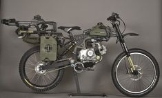 WTF - this is like something AKA #a-team#renegade #rambo Ottonero Cafe Racer: Moped army