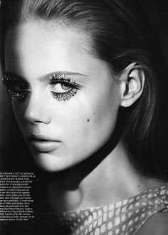 Frida Gustavsson, British Vogue, Dec. 2010