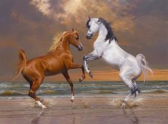 After seeing Smith's painting of Altesse Royale in the shop window, a horse breeder asked Peter to paint his brood mares, which led to additional commission work. Description from bowskillart.com. I searched for this on bing.com/images