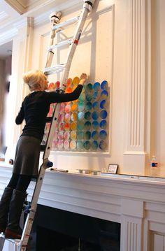 diy wall clocks 360850988889216174 - 'Color Code' installing a custom wood circle wall sculpture / rosemary pierce modern art Source by mariedegea Modern Framed Art, Modern Frames, Modern Art, Wall Sculptures, Sculpture Art, Abstract Sculpture, Bronze Sculpture, Diy Wall Art, Diy Art