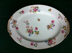 "Vintage Noritake (M) ""Made in Japan"" Roses & Multifloral Serving Platter 13 7/8"""
