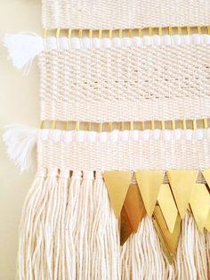 weaving wall hanging / lunar tapestry / hand by HAZELANDHUNTER