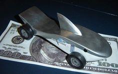 pinewood derby car -shark
