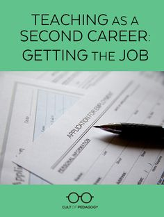 Teaching as a Second Career: Getting the Job - Are you starting your teaching career later in life? Here's some advice for getting the job from two administrators and a teacher who's been there. Teaching Job Interview, Teacher Interviews, Teaching Career, Teaching Plan, Teaching Strategies, Teaching Science, Teaching Ideas, Jobs For Teachers, First Year Teachers