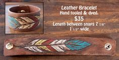 Re-Ride Stories new hand tooled leather bracelet! Available at our etsy shop :)