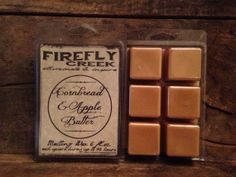 6oz. Large Aroma Bar-Melting Wax scented in Cornbread & Apple Butter on Etsy, $5.00
