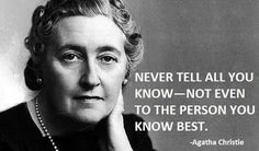 Agatha Christie (1890-1976): The world's most famous crime novelist never called herself a 'writer' - but always humbly referred to her occupation as 'married woman'. She wrote 6 books as Mary Westmacott, but is best-known for the 78 crime novels, 150 short-stories, 4 non-fiction books, and 19 plays she wrote in own name, which have been translated into 56 languages. She also wrote the world's longest-running play 'The Mousetrap' which premiered in London's West End in 1952, and continues…
