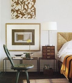 Trio Of Bedside Tables   photo by Pieter Estersohn   design Tom Scheerer   House & Home