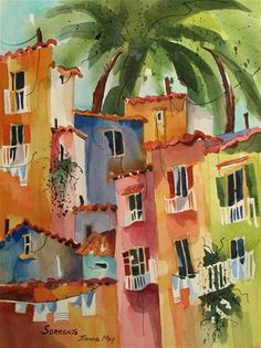 """Daily Paintworks - """"Sorrento"""" - Original Fine Art for Sale - © Jinnie May"""