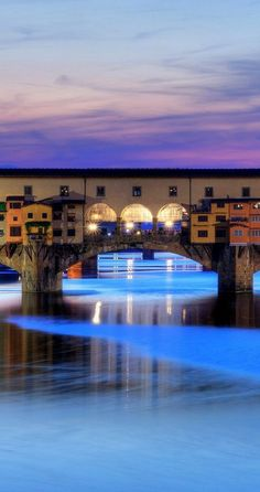 Ponte Vecchio at night, Florence, Italy.