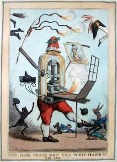 William Heath (English 1795-1840) - The Press : 'The Man Wot's Got the Whip Hand of 'Em All', 1829. Hand-coloured etching
