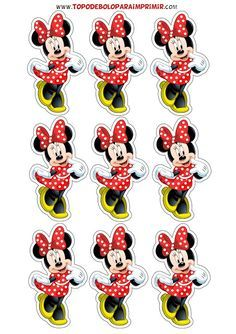 tubete minnie para imprimir Hand Crafts For Kids, Easy Crafts To Sell, Princess Cake Toppers, Female Cartoon Characters, Cake Decorating Piping, Minnie Mouse Theme, Mickey And Friends, Decoration, Baby Shower