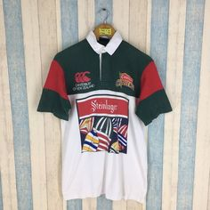 09547e29a44 CANTERBURY Steinlager Shirt Vintage 90's Jonah Lomu All Blacks Rugby New  Zealand Canterbury Challenge Polo Rugby Shirt Size M