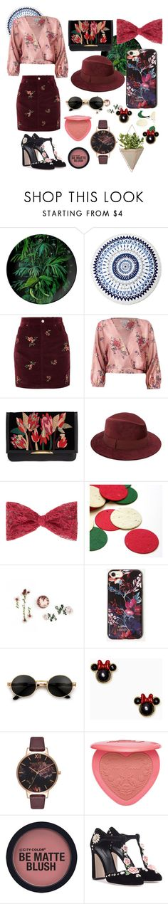 """💃🏽"" by brutaldg ❤ liked on Polyvore featuring The Beach People, Topshop, Sans Souci, Lizzie Fortunato, Saks Fifth Avenue, Kate Spade, Olivia Burton, Too Faced Cosmetics, Dolce&Gabbana and Umbra"