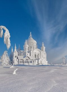 Vladimir Chuprikov.  Russian church in winter. Which is actually a great place for travelers to go.