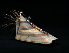 PEM | Native American Art « Collections: Hat ca 1820: Aleut ( Unangan ) : Aleutian Islands ( Alaska )