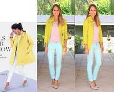 Brights with Nude Pumps