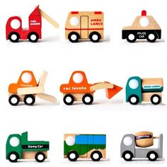 1PC Funny Children Kid Baby Gift Educational Mini Car Vehicle Wooden Toy 12Types