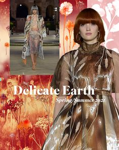 Earths delicate surfaces and fragile nature combine for this Spring / Summer 2021 story. Subtle neutral tones and distressed textures mix with fragile wildlife. Summer Fashion Trends, Spring Fashion, Land Art, Color Trends, Design Trends, Diy Design, Pattern Bank, Fashion Forecasting, Fashion Designer