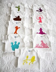 Freezer stencil onesie...baby shower craft.