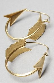 Arrow hoop earrings- Pi Phi arrows #piphi #pibetaphi
