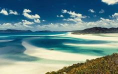 Whitsunday Island, Australia -- Wonderfully tranquil, the sweeping sands and blue waters of the Whitsunday Islands never fail to impress photographers with their unspoiled beauty.