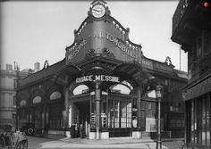 Le Garage Messine à l'angle de la rue Treilhard (à droite) et la rue Mollien en 1926. Une photo des © Frères Seeberger  (Paris 8ème)