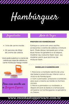 Receita de Hambúrguer caseiro, fácil e prática, somente 02 ingredientes!
