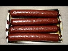 Best Deer Summer Sausage Smoked in Masterbuilt Electric Smoker Venison Summer Sausage Recipe, Summer Sausage Recipes, Smoked Sausage Recipes, Venison Recipes, Smoker Recipes, Meat Recipes, Recipies, Cooking Recipes, Sausage Spices