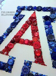 University of Arizona button art! BEAR DOWN! Amazing gift for U of A