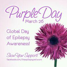 Epilepsy Awareness   Wear Purple Day for Epilepsy Awareness! I'm Rocking my Purple! Are You ...