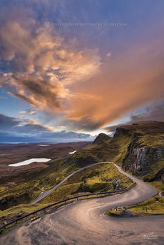 Sunrise clouds over Quiraing. Isle of Skye, Inner Hebrides of Scotland. Don't use without permission. All images are copyright © John Finney photography.