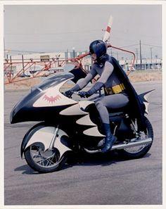 The Bat Channel! bat motorcycle and adam west original batman
