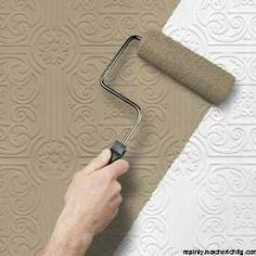 Paintable Wallpaper from Lowe's. This would be awesome on a ceiling and painted a copper glaze!