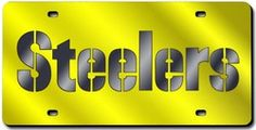 Pittsburgh Steelers Laser Cut Yellow License Plate
