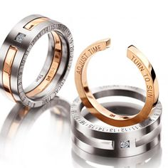 MEISTER Rings 0 - Mens-Collection redgold / titanium | MEISTER