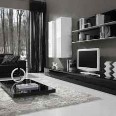 mueble-salón-blanco-negro