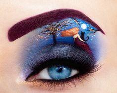 Eye-art by Tal Peleg - Ego - AlterEgo Eye Makeup Art, Eye Art, Fairy Makeup, Makeup Eyes, Beautiful Eye Makeup, Beautiful Eyes, Amazing Makeup, Crazy Makeup, Makeup Looks